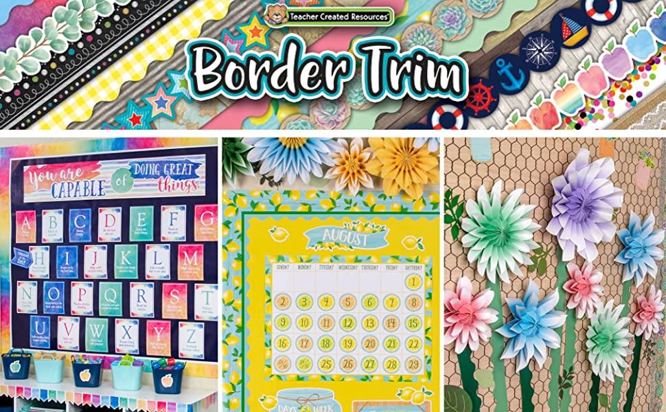 border trim header with classroom photos