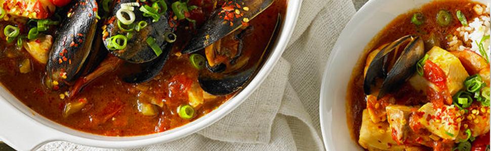clams and tofu