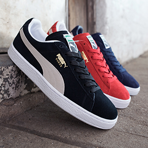puma basket classic on feet
