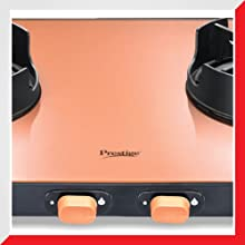 Prestige Edge Series Gas Stove Slim Cook top - 2Burners - pep02 (Pastel)