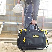 Werkzeugkoffer, Aufbewahrung, Werkzeugbox, Box, Werkzeug, Profi, Stanley, schwarz, gelb