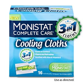 Monistat 3 In 1 Cooling Cloths Cools On Contact Soothes With