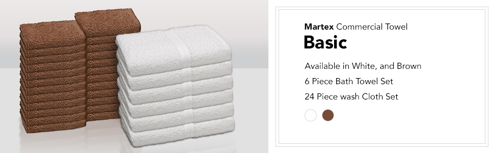 Martex Basic Commercial Towel Set Bath Towels Wash Cloths Bundle Sale Deal Best Value Good Everyday