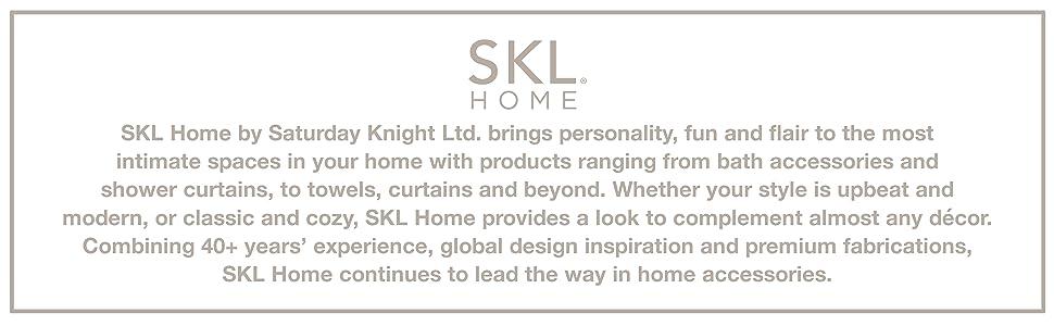 skl home, saturday knight ltd, bath accessories, home decor, bath decor, shower curtain, towel, home