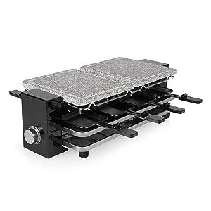Appareil à raclette Princess Piano 8 avec 2 pierres à cuire