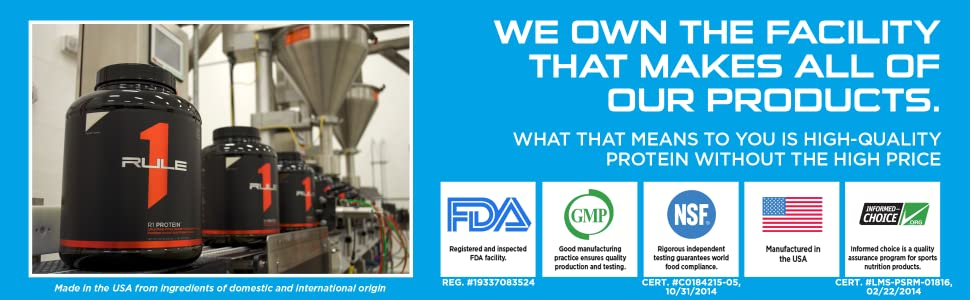 We Own The Facility That Makes All of Our Products