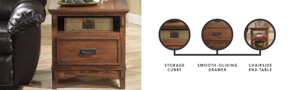 end chairside table smooth gliding drawer traditional accent