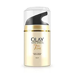 Olay 7-in-1 Total Effects Anti-Ageing Night Cream Firming Moisturiser, Fights The 7 Signs of Ageing