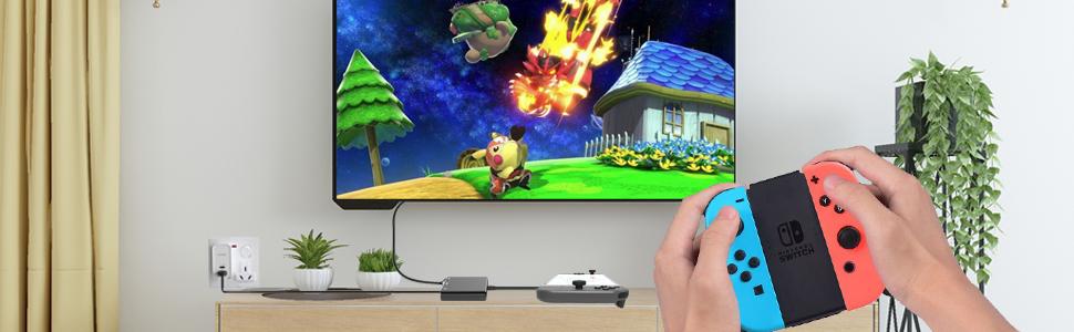 HDMI USB C Hub Adapter for Nintendo Switch