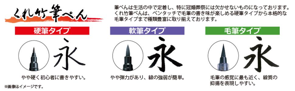 呉竹 筆ペン 比較表