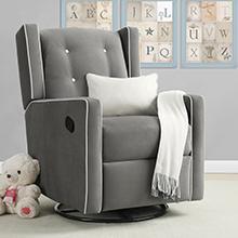 Baby-Relax-Mikayla-Swivel-Gliding-Recliner-Gray-Microfiber-Upholstery-Nursery-Room