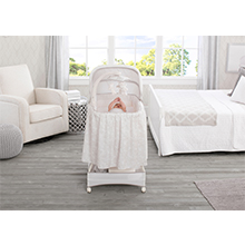 bassinet simmons infant sleeper gliding automatic