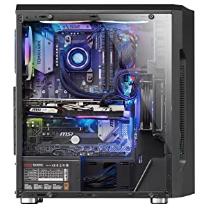 Mars Gaming MCK, Caja PC ATX, Triple Franja LED, Ventilador ...