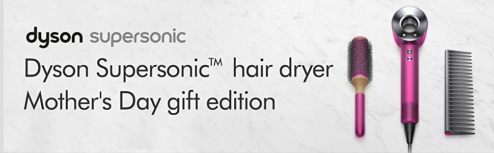 Amazon Com Dyson Supersonic Hair Dryer Limited Edition Gift Set Fuchsia Nickel Home Kitchen