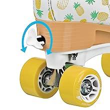 EZ twist adjustable sizing for quad hightop skates