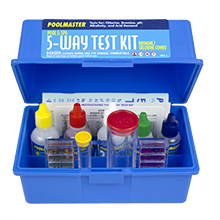 Poolmaster 22260 5 way test kit with case basic collection swimming pool liquid for Swimming pool test kits amazon