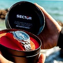 2ea294b39fc SECTOR NO LIMITS Herren Chronograph Quarz Uhr mit Edelstahl Armband ...