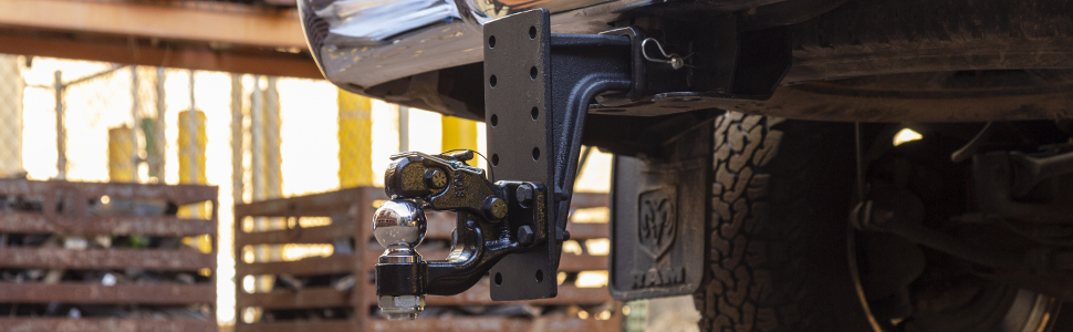 CURT Deep Drop Pintle Hitch Lifted Truck Hitch