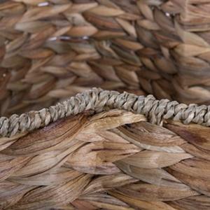 Natural Water Hyacinth Pet Bone Shape Basket Weaving Detail.
