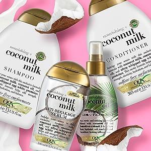 shampoo al cocco, shampoo ogx, shampoo nutriente, shampoo capelli lucenti, shampoo capelli morbidi