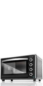 Cecotec Bake&Toast 750 Gyro - Horno Conveccion Sobremesa, 2000 W, 12 Modos, Temperatura hasta 230ºC y Tiempo hasta 60 Minutos, Incluye Accesorio Rustidor con pinzas, Capacidad 46L 37x57x39cm: Amazon.es: Hogar