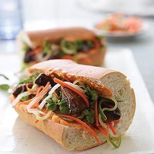 banh mi, portobello mushroom, sandwiches, vegan, recipe, vegenaise, cookbook