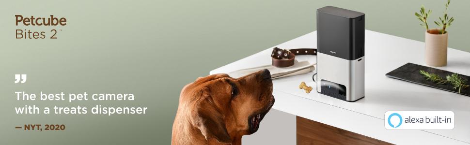 Petcube Bites pet camera with treat dispenser cover image