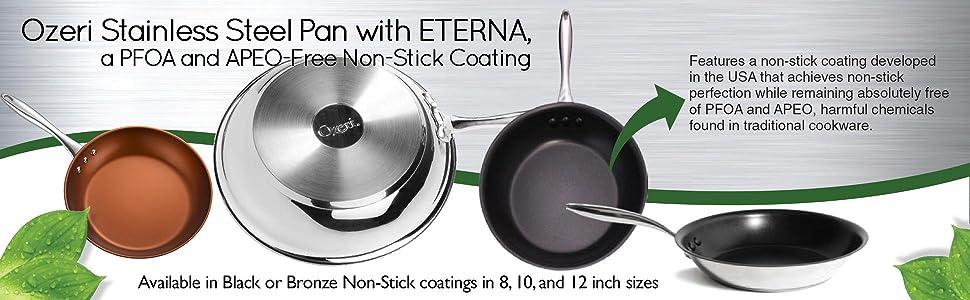 Amazon Com Ozeri 10 Inch Stainless Steel Pan With Eterna