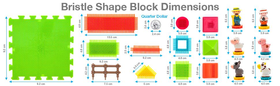 Bristle Shape Block Dimensions