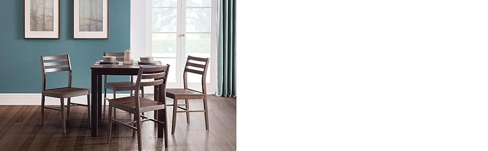 1ba73100d7 Julian Bowen Monterey 5 Piece Dining Set-Dark Walnut, 80 x 80 x 75 ...