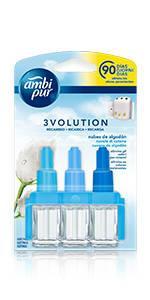 Ambi Pur 3Volution Tatami Japonés Recambio De Ambientador Eléctrico 42 ml, 3 Fragancias Para Eliminar Olores: Amazon.es: Salud y cuidado personal