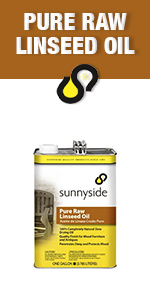 oil, linseed, raw, sunnyside, cleaner, stain, protect, oil, solvent, boiled, natural, wood, restore