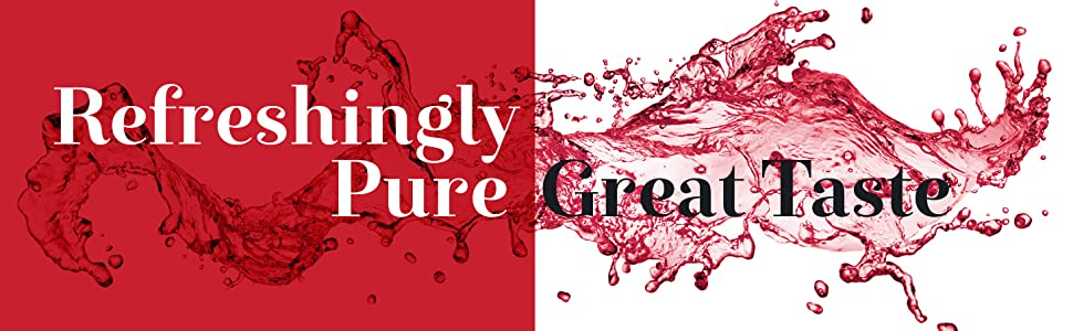 Refreshingly pure, great taste