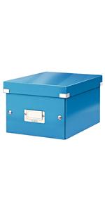 Leitz Caja de almacenamiento grande A3, Azul, Click and Store, 60450036: Amazon.es: Oficina y papelería