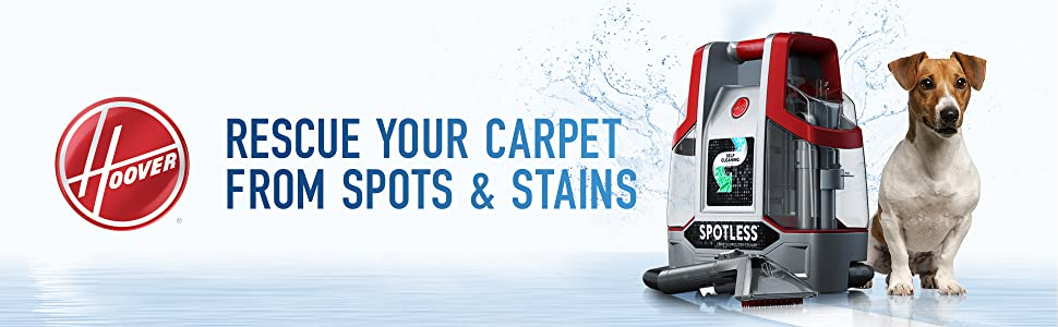 hoover spotless portable compact lightweight spot cleaner spills stains easy