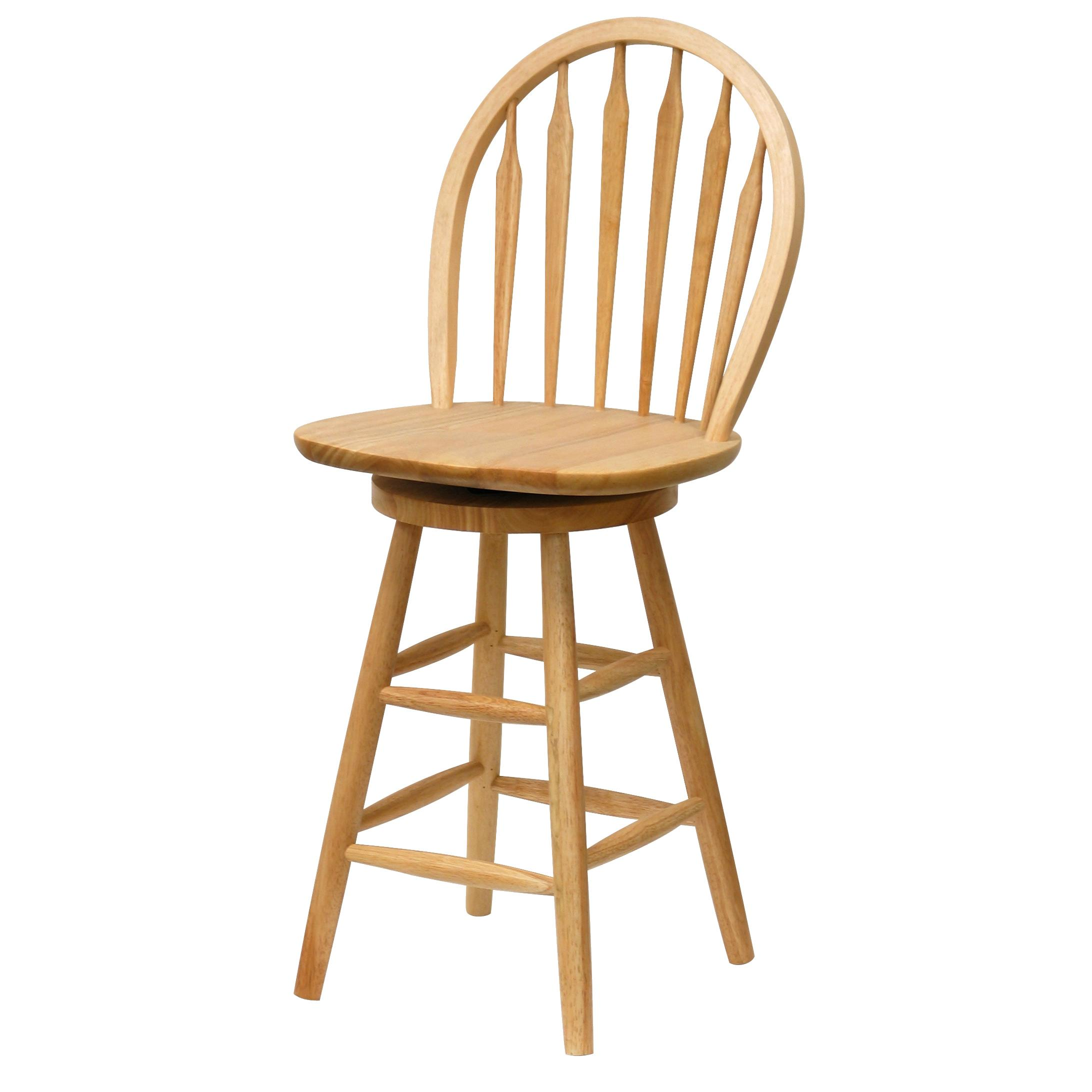 Winsome wood 24 inch windsor swivel seat bar stool