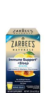 Zarbee's Naturals Elderberry Immune Support Gummies with Vitamin C, Zinc