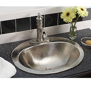 Terrific Sinkology Bod 0903Brn Dalton Drop In Handcrafted Bathroom Sink 20 Hammered Nickel Home Interior And Landscaping Palasignezvosmurscom