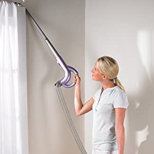 overhead cleaning, above floor cleaning, hose, long hose, wand