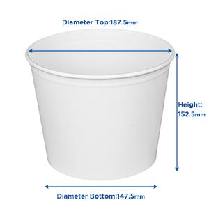 Karat  85 oz Food Buckets With Paper Lids (189mm)