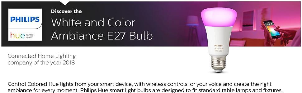Hue Colour E27 Bulb