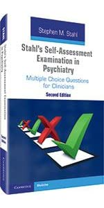 stahl's self-assessment examination in psychiatry book cover