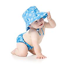 bumkins swim diaper and hat set