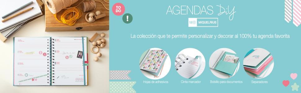 Miquelrius Agenda escolar 2019 2020 Floral Semana Vista Español 155x215 mm