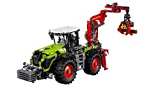 Tractor with true-to-life tires, crane, and cab
