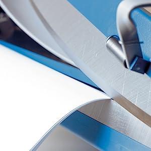 Bis DIN A4, 35 Blatt Schneidleistung Hochwertiger F/ür Klebeb/änder mit bis zu 50 cm Breite blau /& tesa Packband Handabroller COMFORT robuster Abroller f/ür Paketb/änder Dahle 561 Schneidemaschine