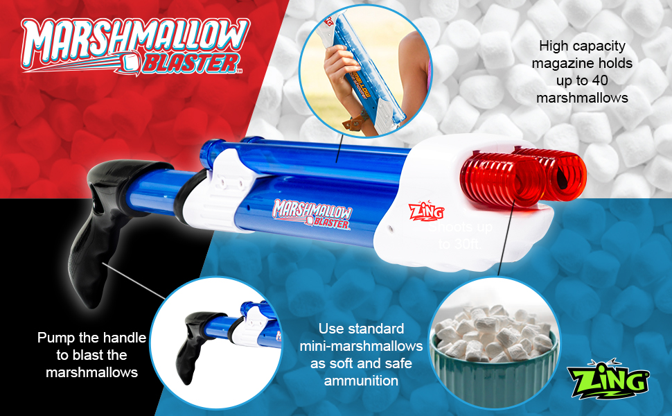 Marshmallow Blaster Bow and Mallow Party Game Indoor and Outdoor Toy play celebrate