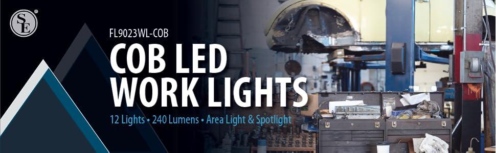 cob led work light area spotlight