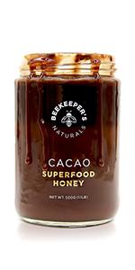 superfood raw cacao dark chocolate pure sustainably sourced honey paleo non-gmo natural sugar desert