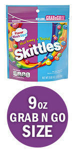 SKITTLES Flavor Mash-Ups Wild Berry and Tropical Candy Grab N Go Size
